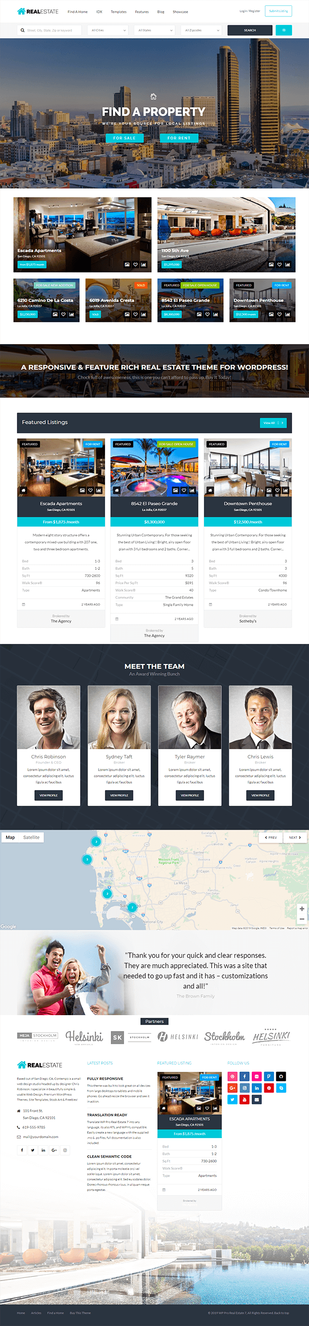 Home - Real Estate WP Theme