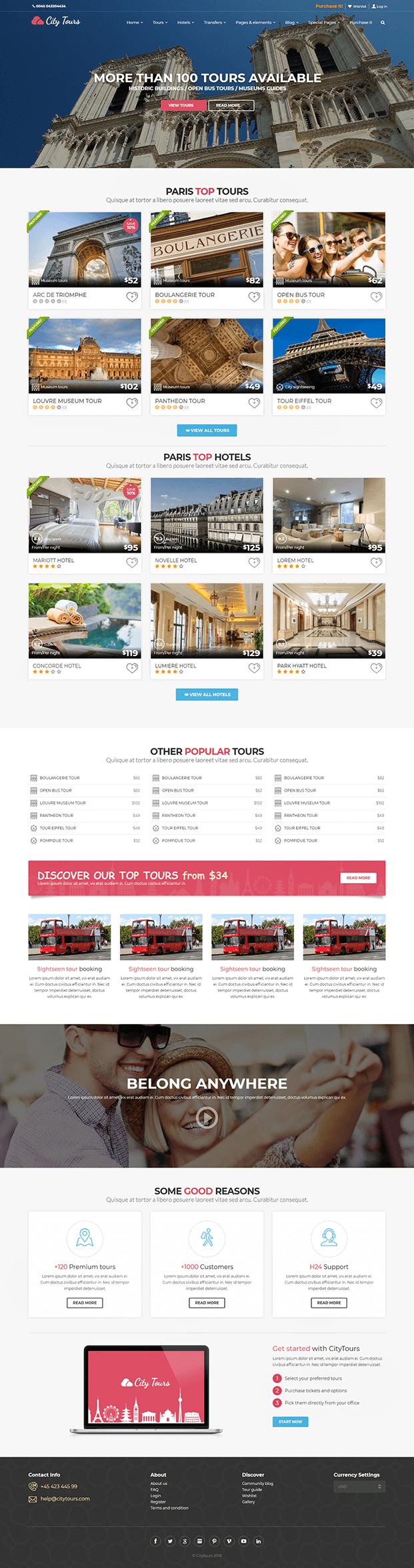 Home - Tour Booking WordPress Theme