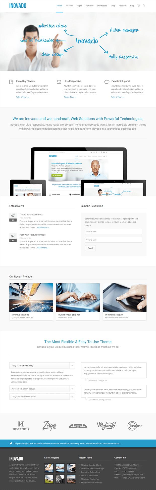 Home - Customisable WordPress Theme