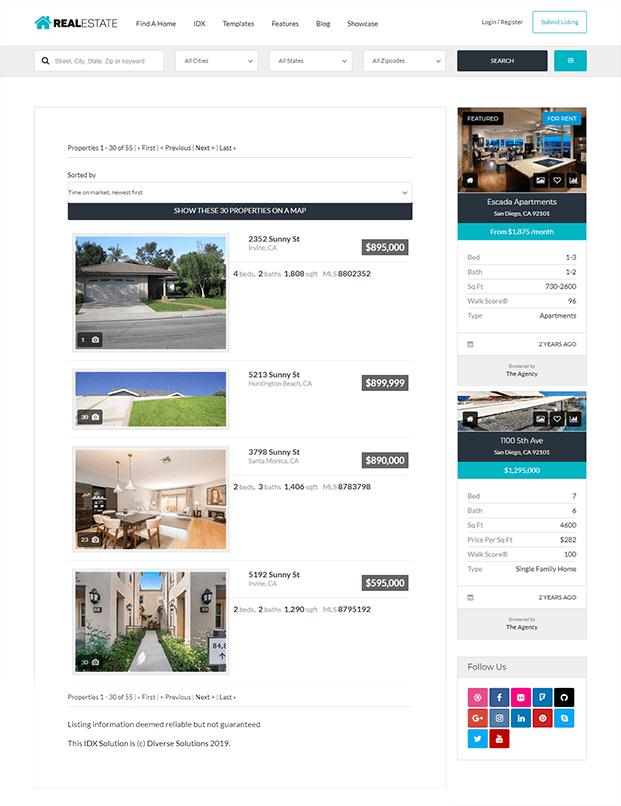 IDX - Real Estate WP Theme