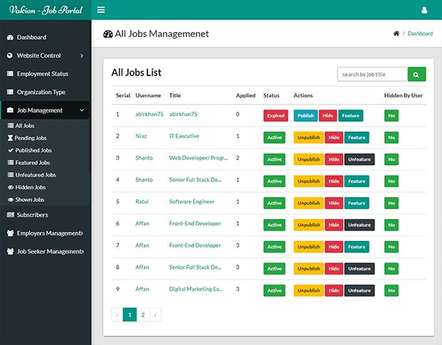 Job List - Job Search Engine PHP Script