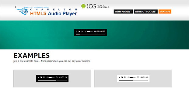 Minimal Playlist - Audio Player WP Plugin