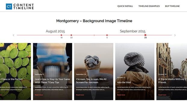 Montgomery Background Image Timeline - Timeline WordPress Plugin