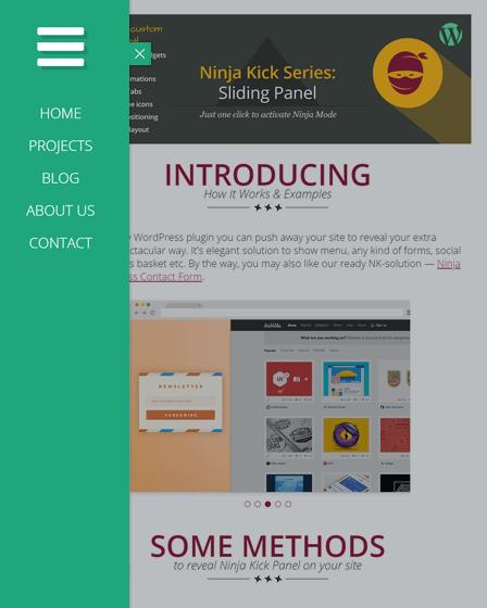WordPress Sliding Panel Plugin