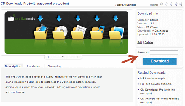 Password Protected - WordPress File Sharing Plugin