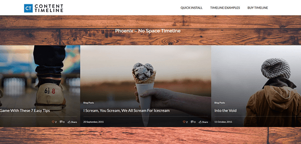 Phoenix No Space Timeline - Timeline WordPress Plugin