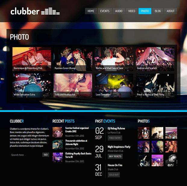 Photo - WordPress Theme For Entertainment
