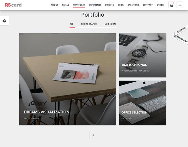 Portfolio - Responsive vCard WordPress Theme