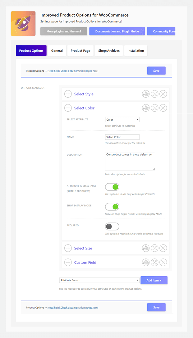 Product Options - WooCommerce WP Plugin