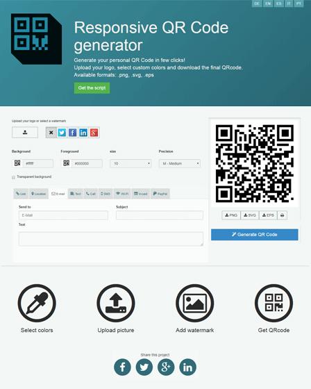 QRcdr - QR Code Generator PHP Script | InkThemes