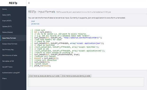 Input Data - PHP CRUD Generator