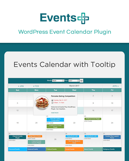 Event Calendar Plugin WordPress
