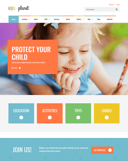 Child Care Theme WordPress
