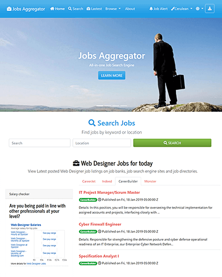 Job Search Engine Script