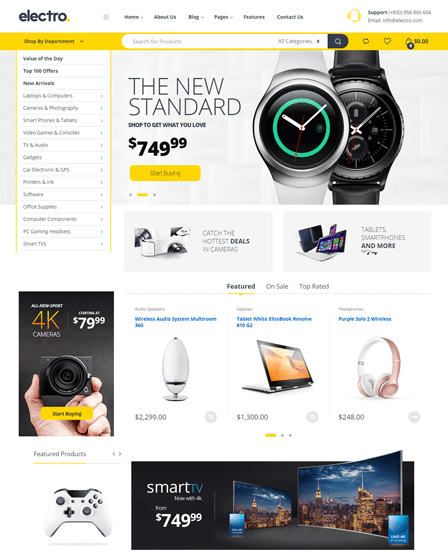 Electronic WordPress Theme