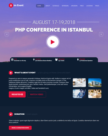 Conference Event WordPress Theme