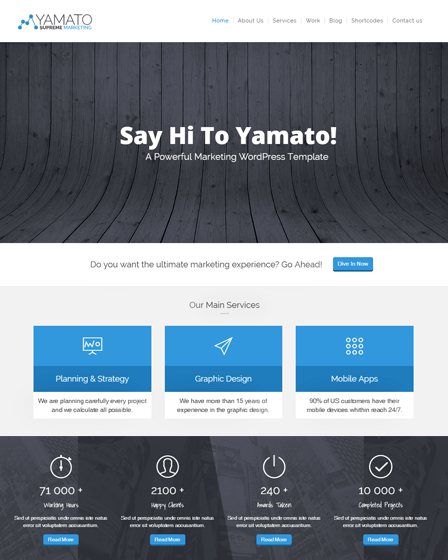 WordPress Marketing Theme