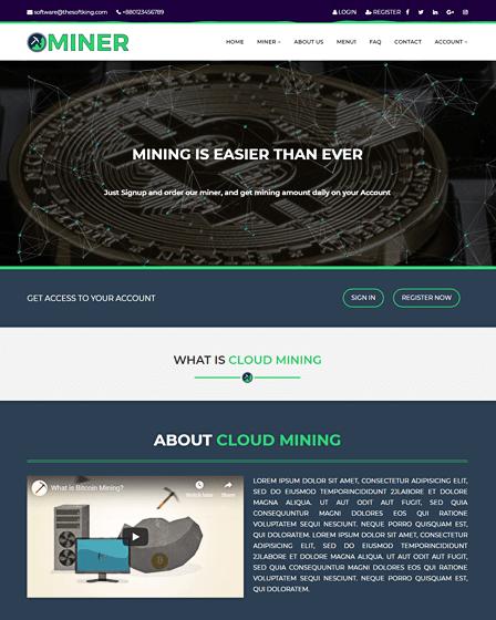 Cloud Mining Script PHP
