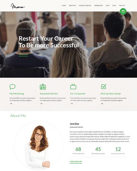 WordPress Theme For Life Coach