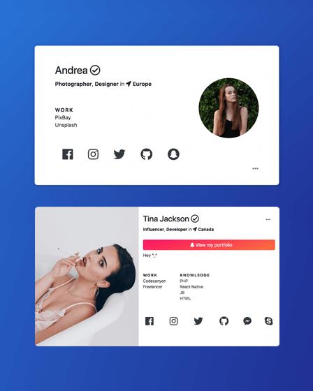 Custom Social Profile PHP Script