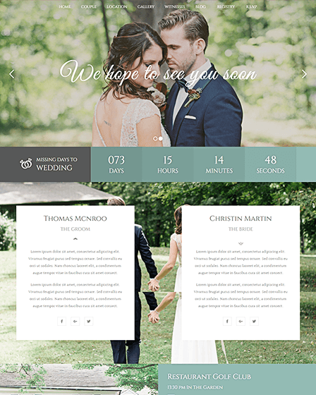 WordPress Theme For Wedding Planner