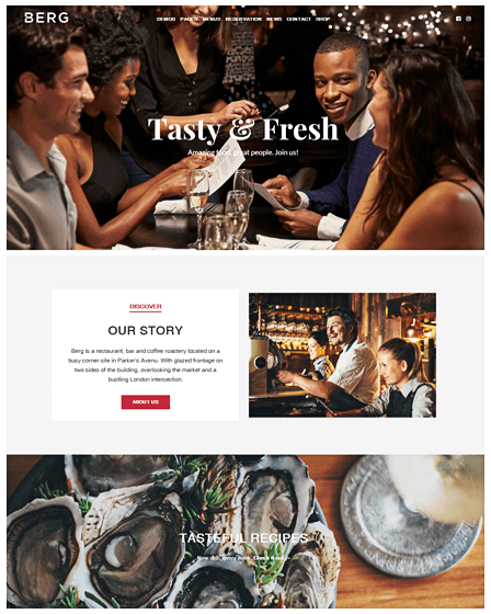 Cafe Theme WordPress