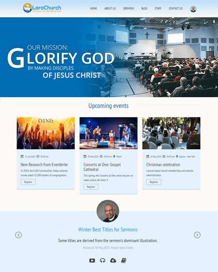 PHP Church Website Script
