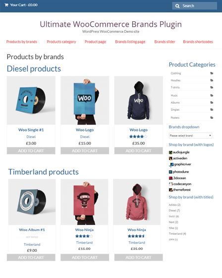 WooCommerce Brands Plugin