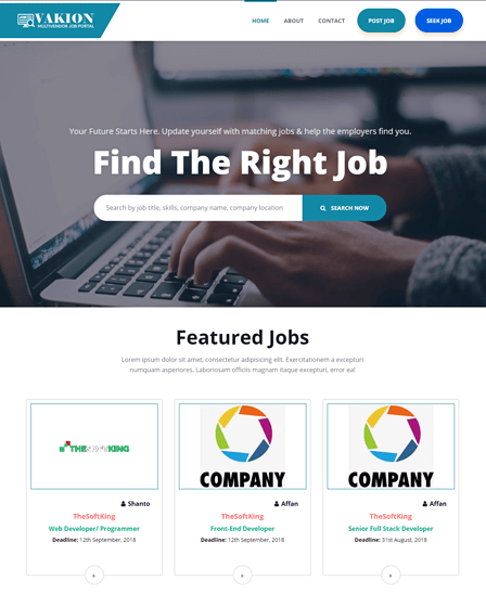 Job Search Engine PHP Script