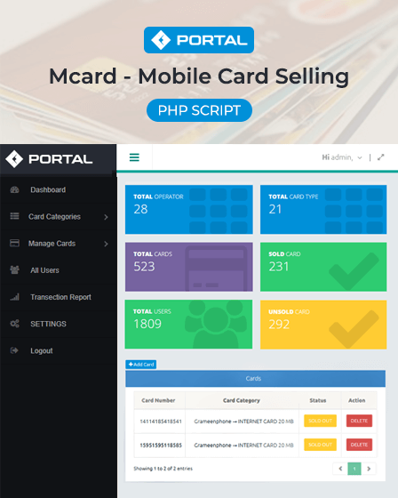 Card Selling PHP Script