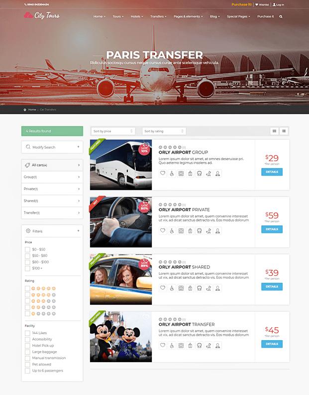 Transfer - Tour Booking WordPress Theme