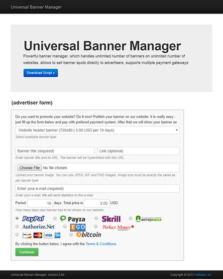 Banner Manager Script