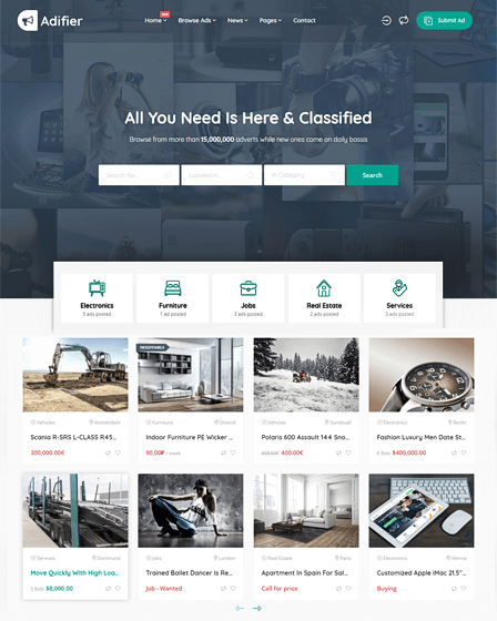WordPress Classified Ad Theme