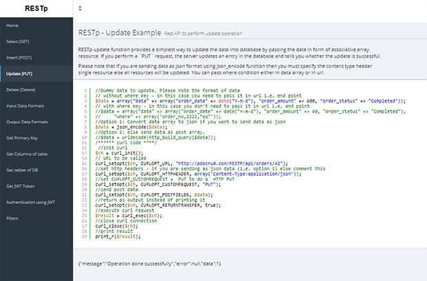 Update - PHP CRUD Generator