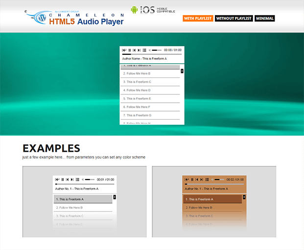 With Playlist - Audio Player WP Plugin