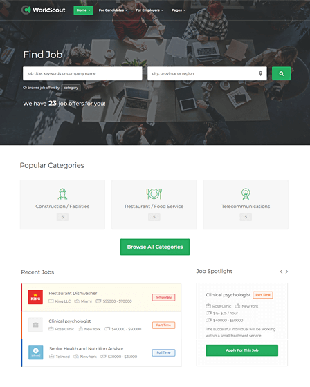 WordPress Theme For Job Portal