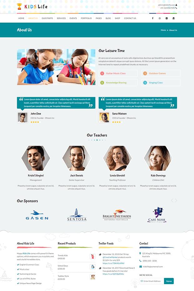 About - WordPress Child Theme