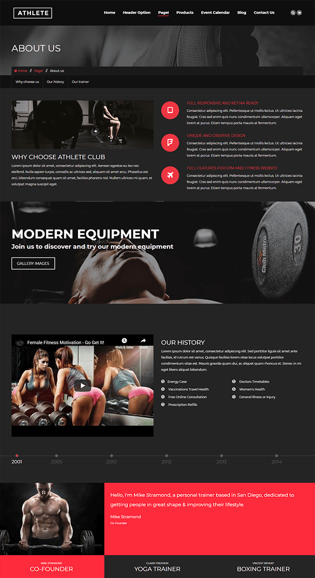 About Us - WordPress Theme For Fitness