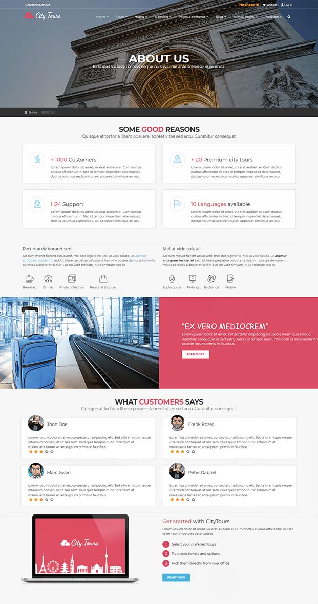About Us - Tour Booking WordPress Theme
