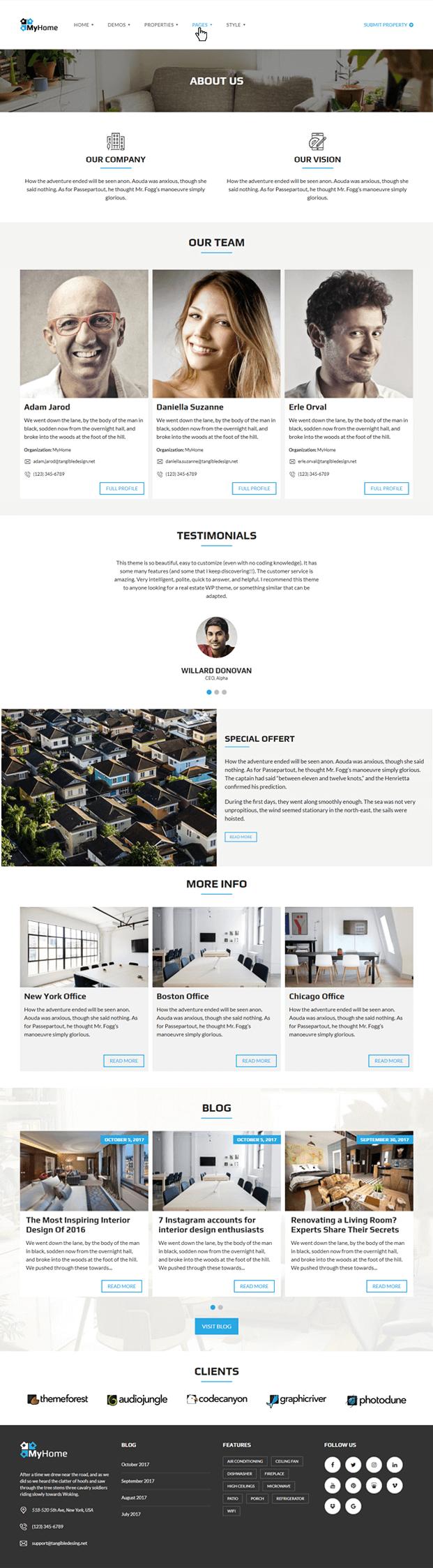 About - Real Estate Agency WordPress Theme