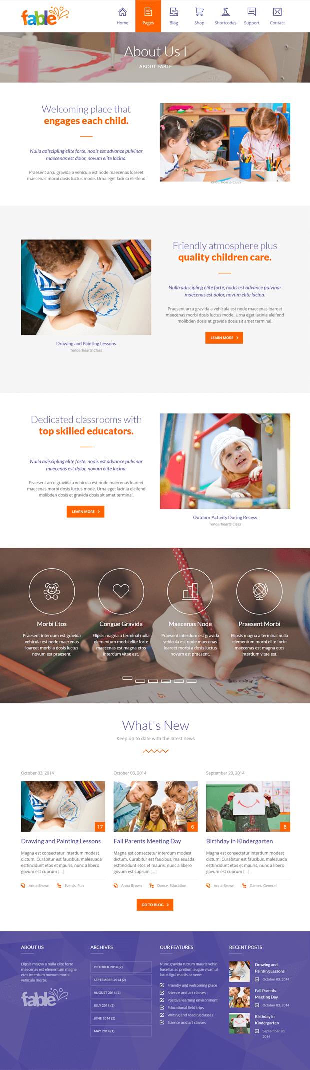 About - WordPress Theme Kindergarten