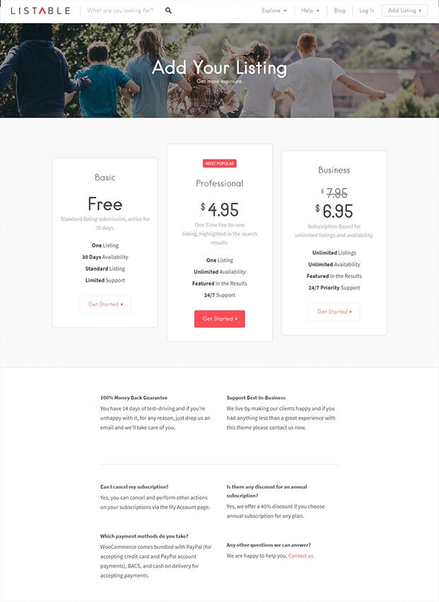 Ads Listing - WordPress Business Directory Theme