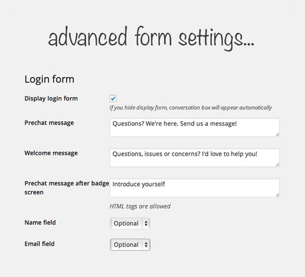 Advance Form - Live Chat WordPress Plugin