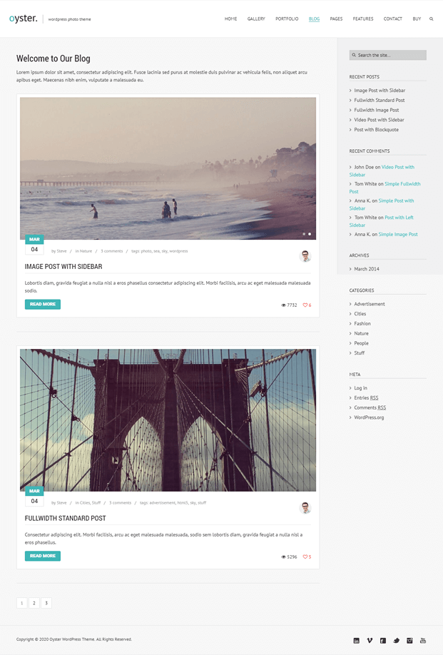 Blog - Photo WordPress Theme