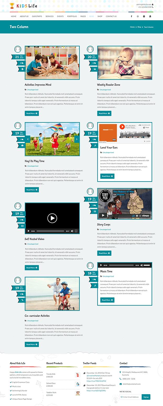 Blog - WordPress Child Theme