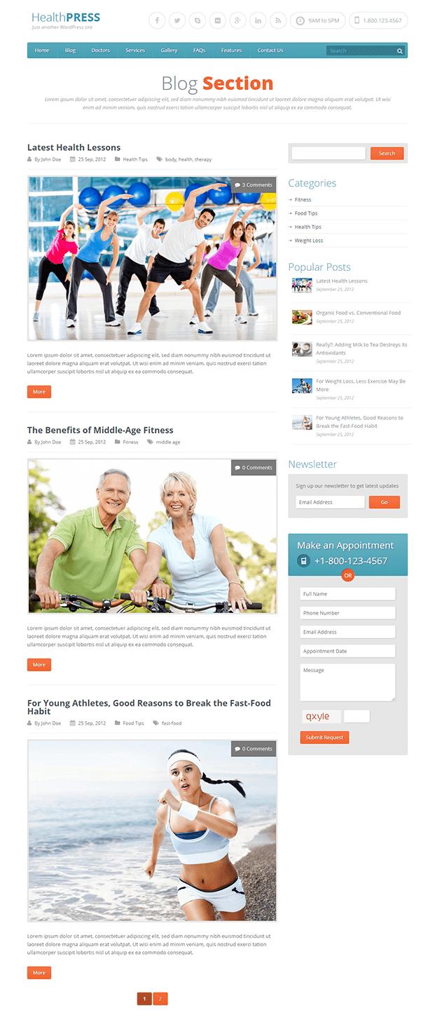 Blog - WordPress Theme For Health