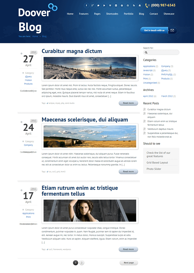 Blog - WordPress Theme For Corporate Website