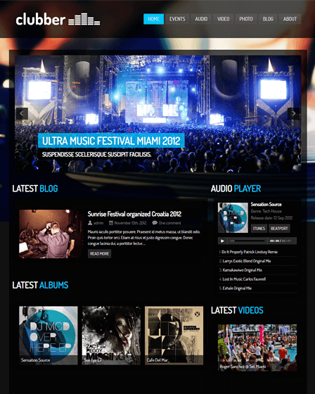WordPress Theme For Entertainment