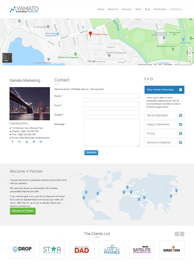 Contact Us - WordPress Marketing Theme