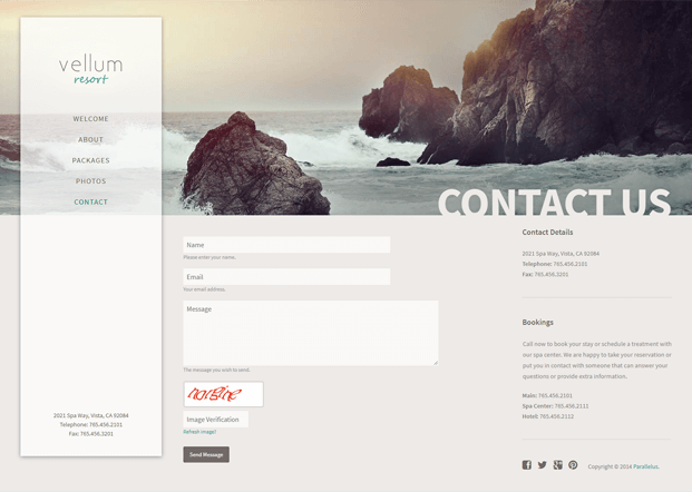 Contact Us - SEO Optimized WordPress Theme